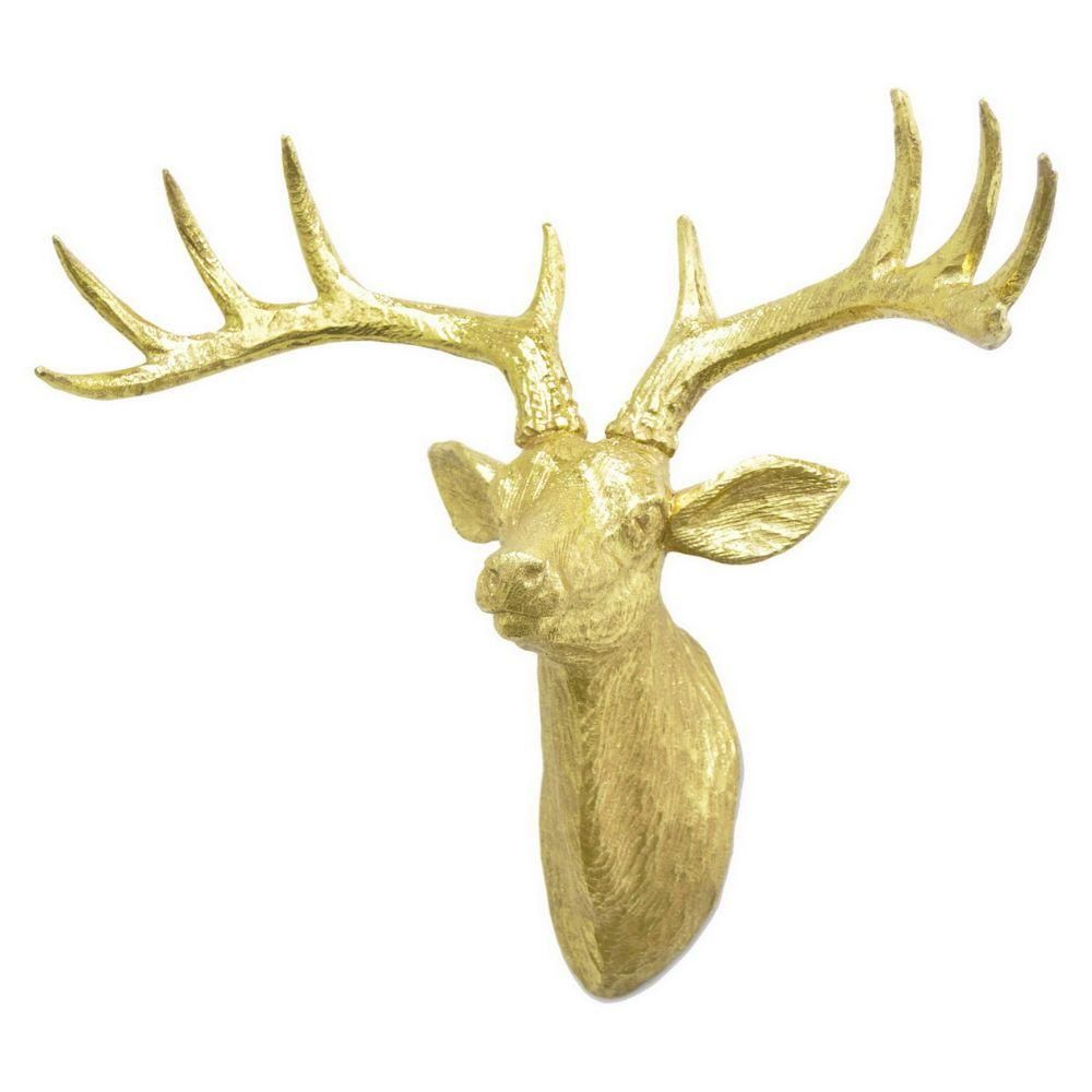 Gold Deer Head Wall Mount | Wall mount, Wall decor and Walls