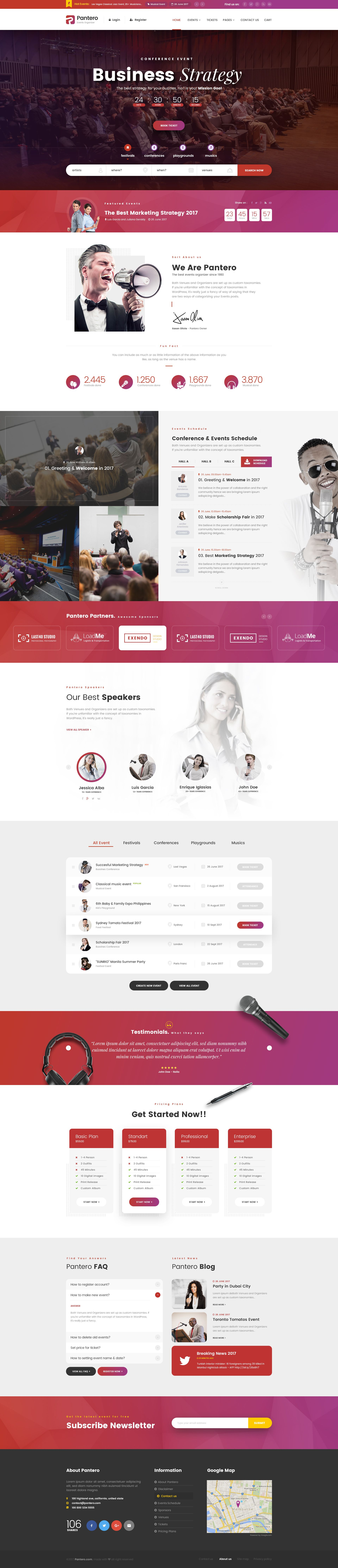 Pantero psd template web design inspiration pinterest psd