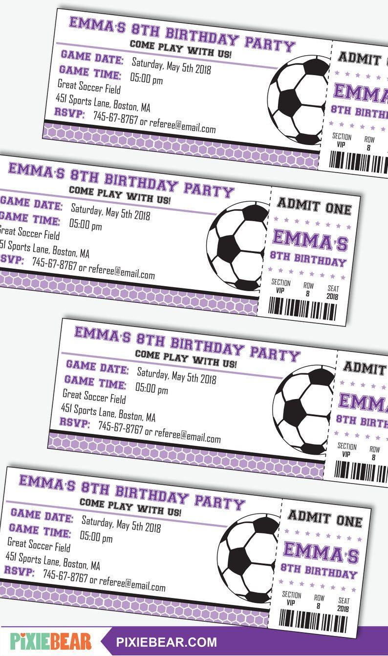 girl soccer party invitation girl
