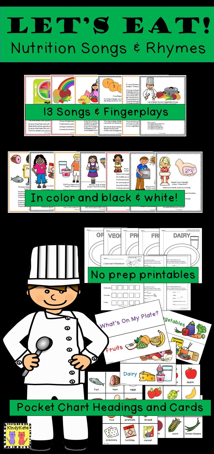Nutrition: Songs & Rhymes | Shared reading, Flannel boards and Flannels