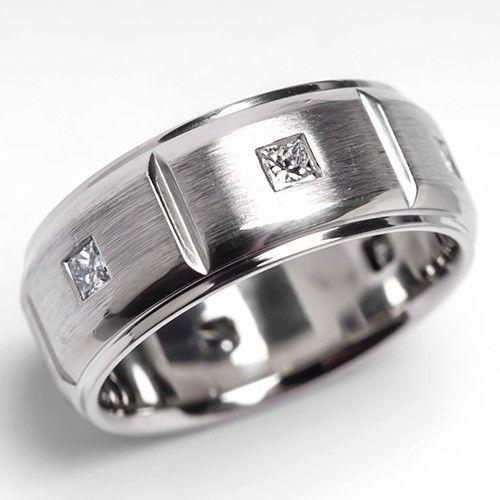 Mens Scott Kay Javlin Diamond Wedding Band Ring Brushed Palladium Diamond Wedding Bands Wedding Ring Bands Rings Mens Wedding Bands