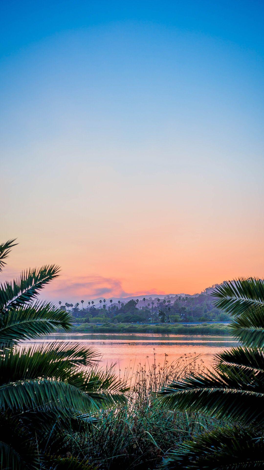 Sunset Iphone Wallpaper Paysage Fond D Ecran Telephone Nature Paysage