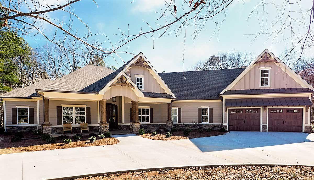 Craftsman House Plan with Angled Garage Craftsman house