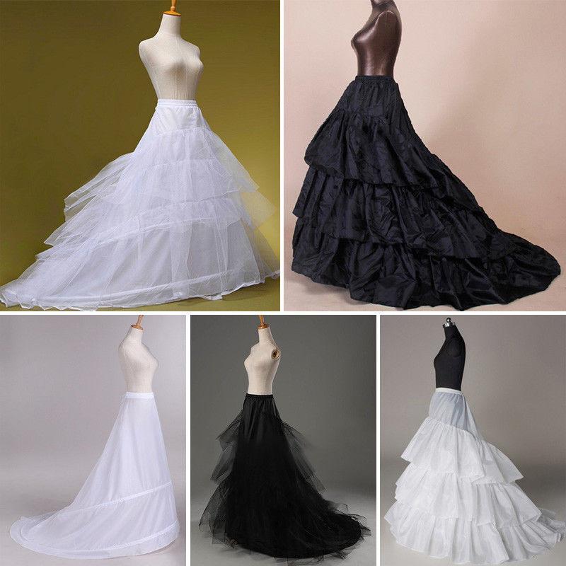Bridal Train Petticoat Hoop Women Wedding Dress Gown Crinoline Underskirt Slip