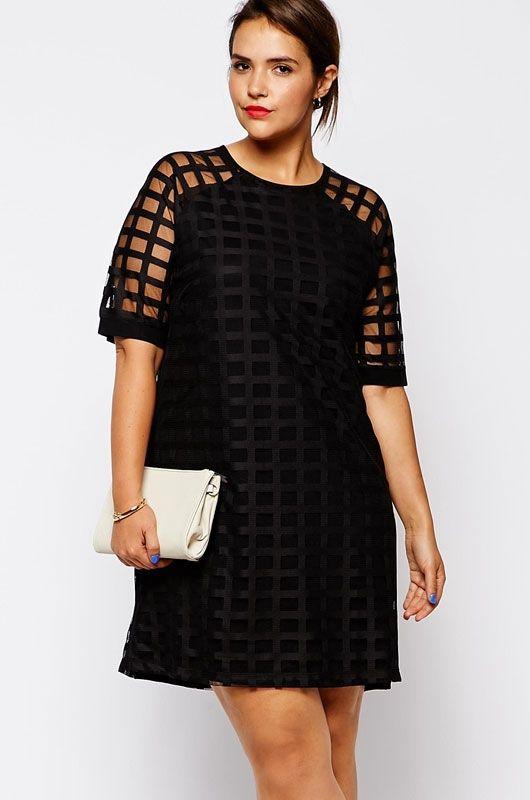Netty Mesh Overlay Plus Size Mini Dress Pinterest Overlay Mini