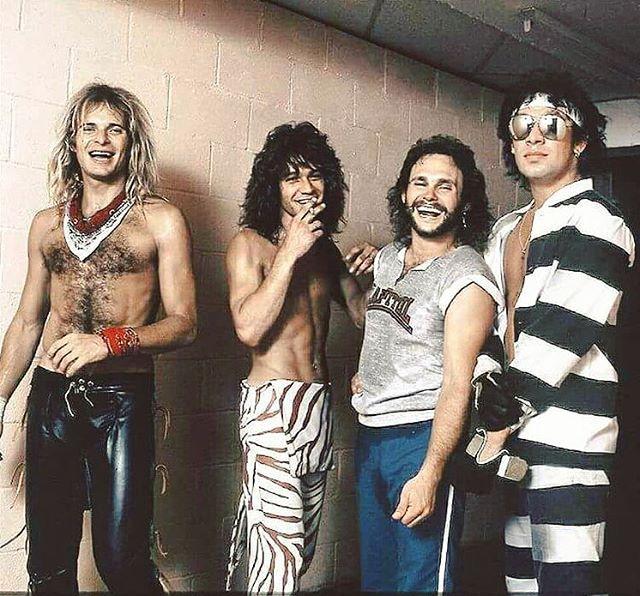Van Halen Good Times Backstage During Diver Down Hide Your Sheep Tour C 1982 83 Eddie Van Halen Van Halen David Lee Roth