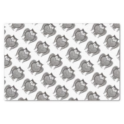 Owl Sketch Pattern Tissue Paper Craft Supplies Diy Custom Design Supply Special Pinterest And