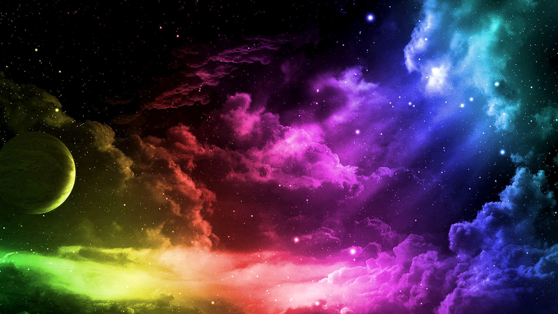 Submit A Post With Images Colorful Clouds Rainbow Wallpaper