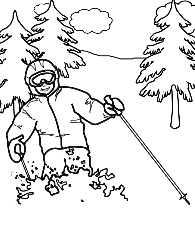 Alpine Skiing Winter Olympics Coloring Pages Coloring Pages Coloring Pages Winter Sports Coloring Pages