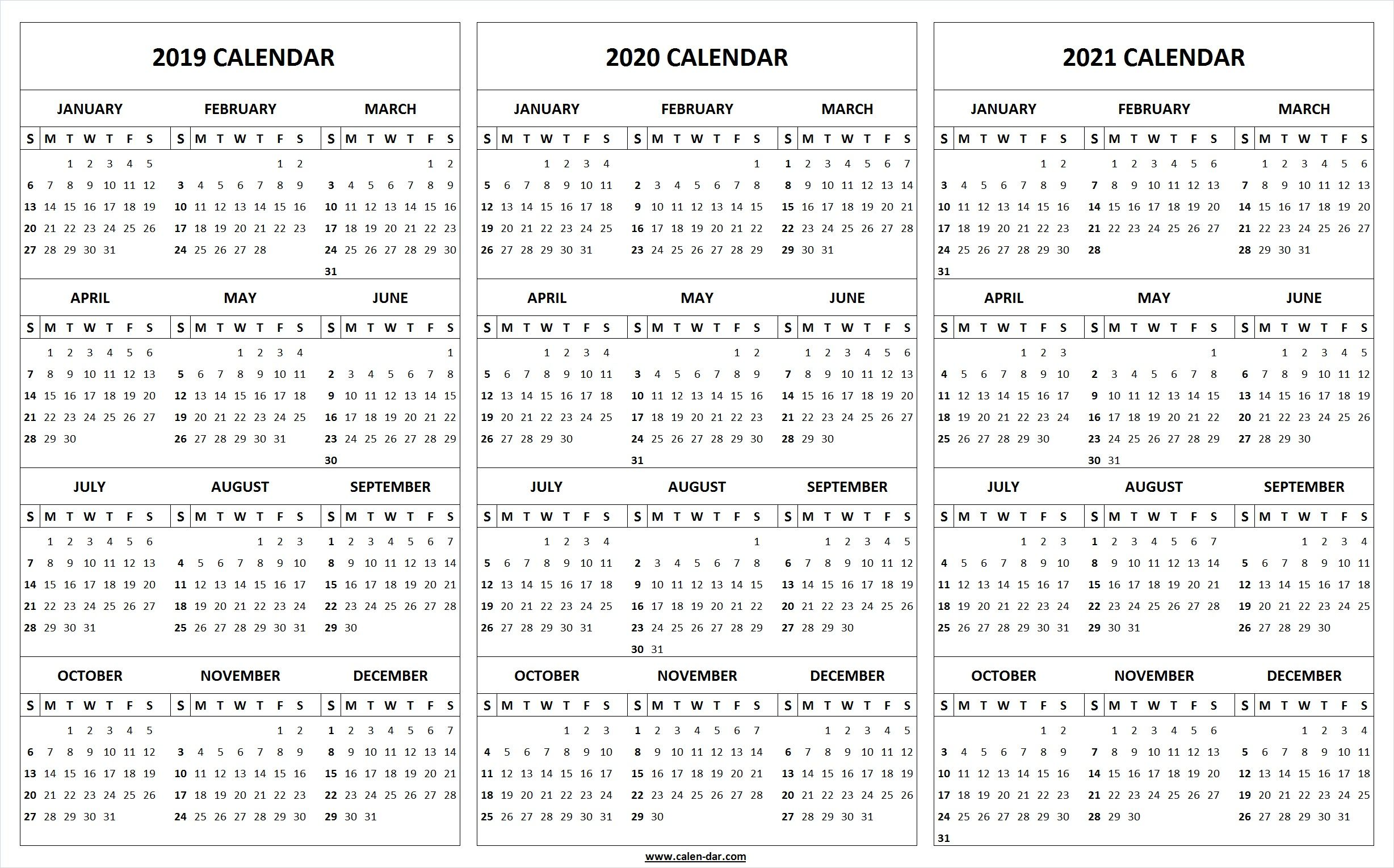 Print Blank 2019 2020 2021 Calendar Template Calendar Printables Calendar Template Marketing Calendar Template