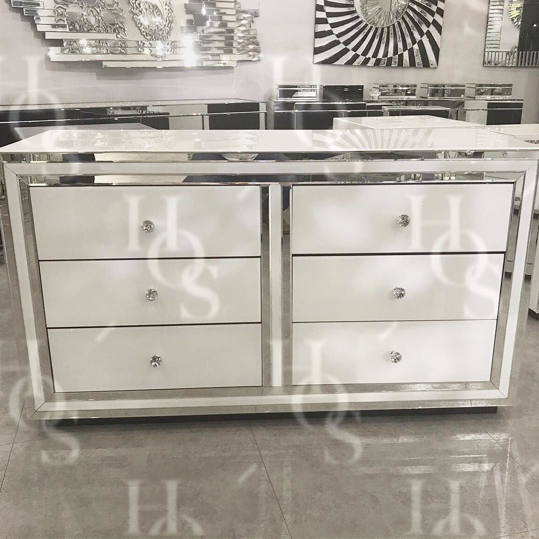 White Mirror 6 Drawer Sideboard Chest Order yours today www ...
