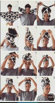Tutoriel attaché foulard / Headwrap tuto