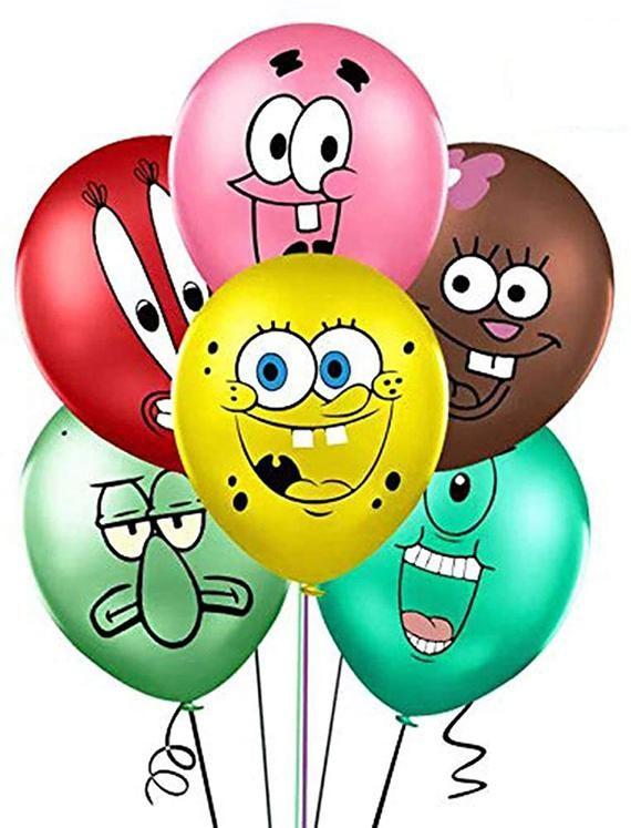 SpongeBob Inspired SquarePants Party Supplies, Spongebob Theme Party Balloons, Spongebob Party, Spon