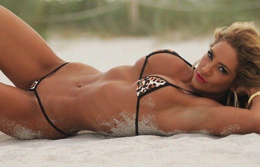 Leopard Print String Bikini