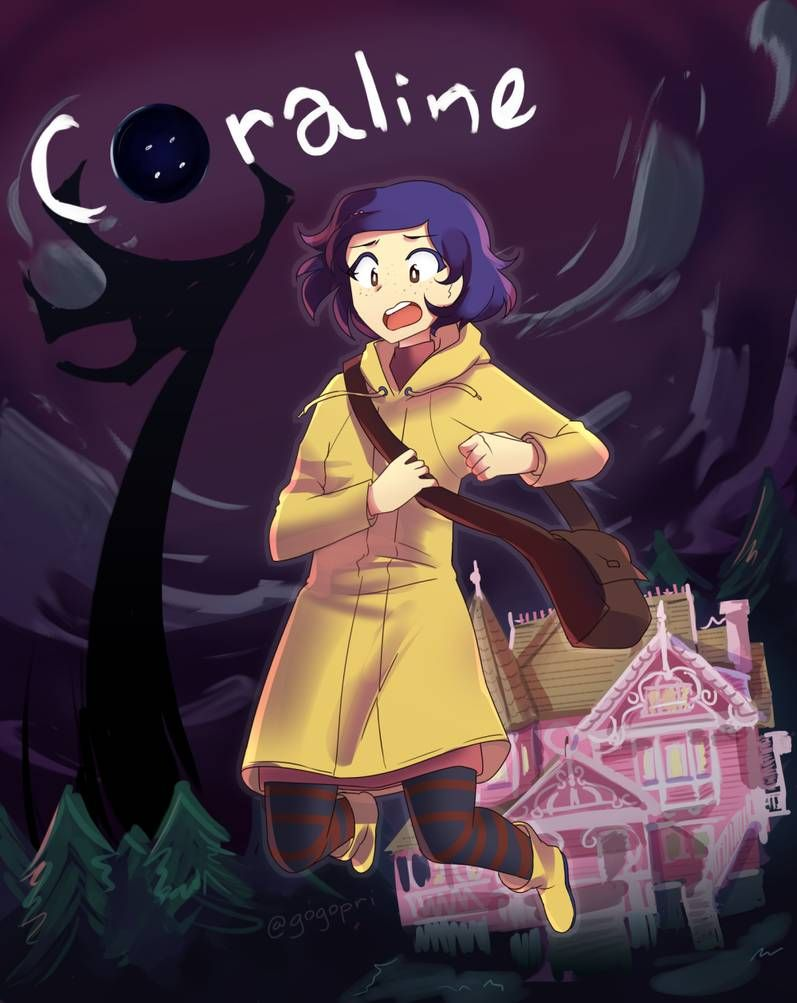 Coraline By Gogopri In 2020 Coraline Art Coraline Coraline Drawing