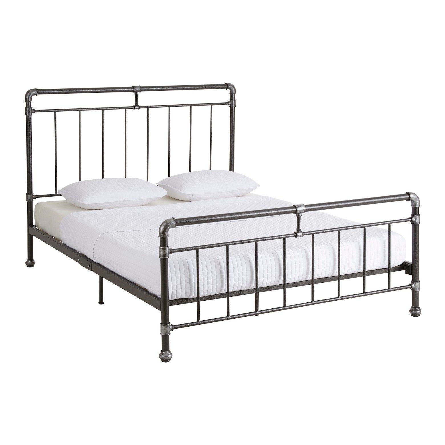 This Stunning Metal Platform Bed Frame Is Evocative Of Old World