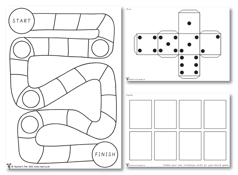 Board Games Ideas Blank Game Board Template Make