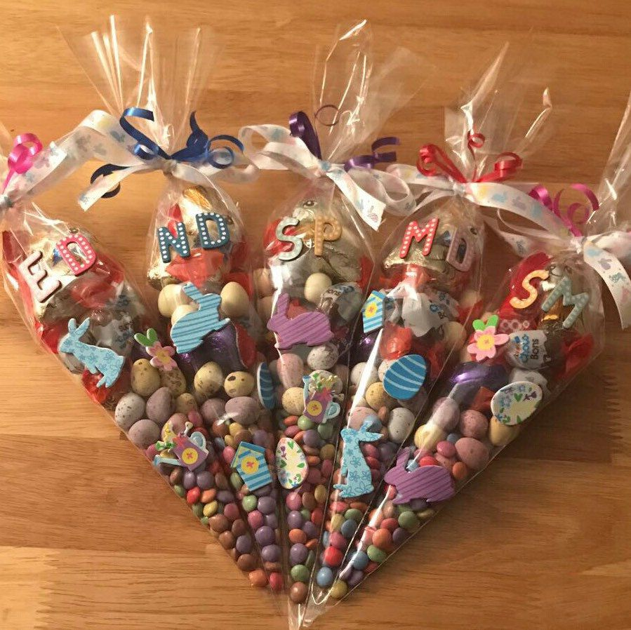 Another order of Easter sweet cones personalised with
