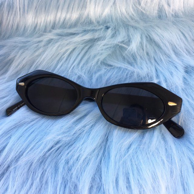 ffb74c4cc0b 90s Angular Cat Eye Sunglasses These are new old stock circa 1990!  Available in 2