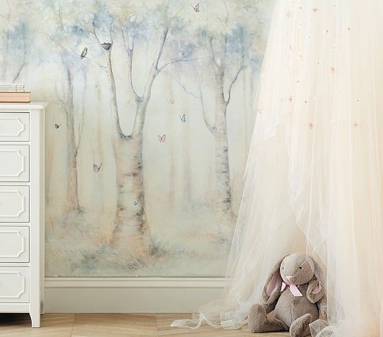 Monique lhuillier ethereal mural pottery barn kids · kids rooms decorroom decorationsart