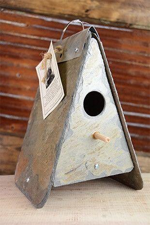 Nesting Birdhouse Reclaimed Slate Slate Tile Crafts Slate Roof Tiles Repurposed Wood Projects