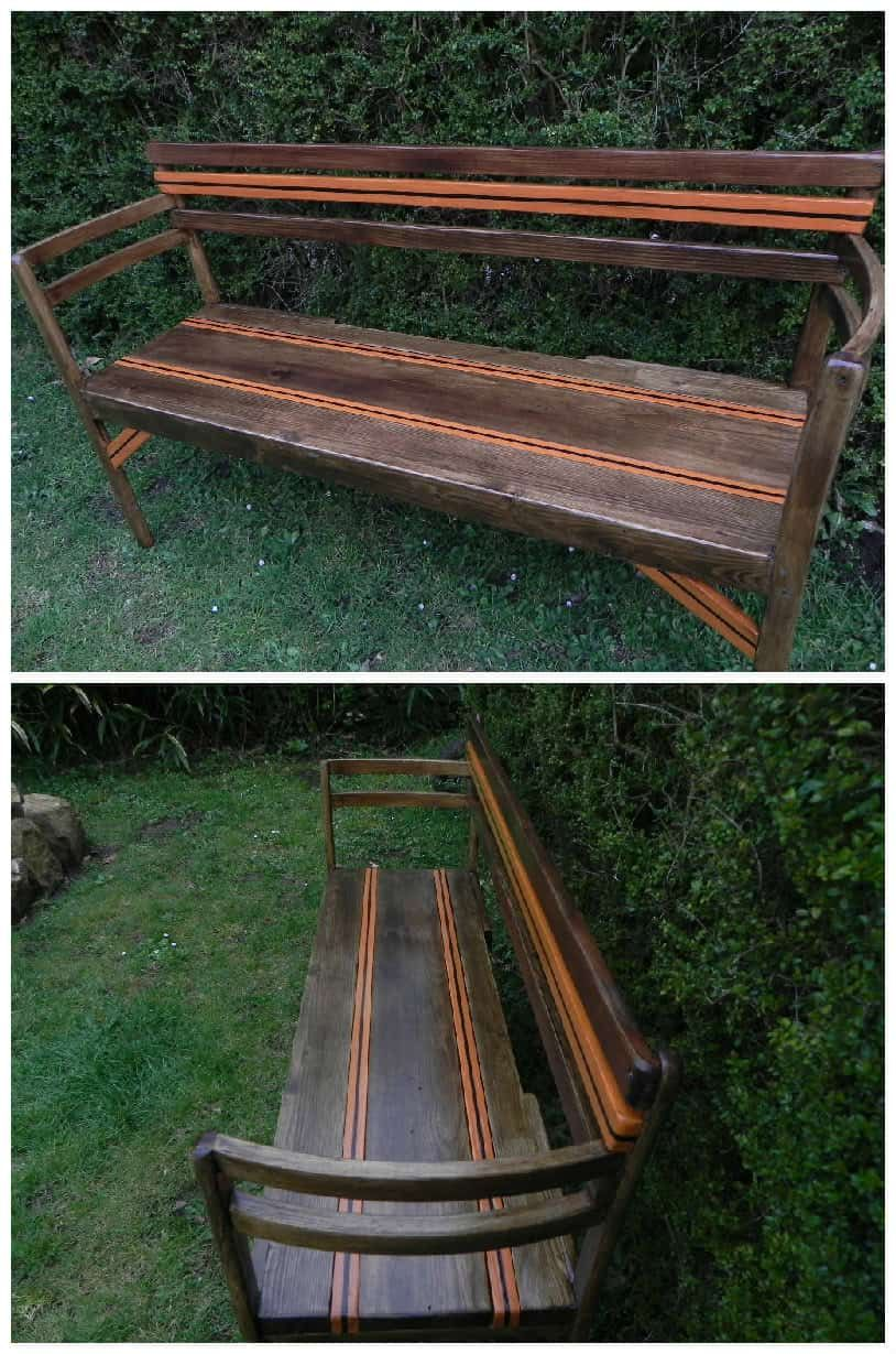 Peachy My Garden Bench Made From Pallet Boards Two Old Chairs Andrewgaddart Wooden Chair Designs For Living Room Andrewgaddartcom