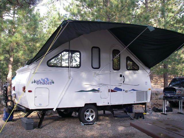awning_open | A frame camper, Aliner campers, A frame trailer
