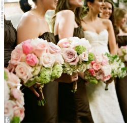 Pink And Brown Motif Color For Wedding