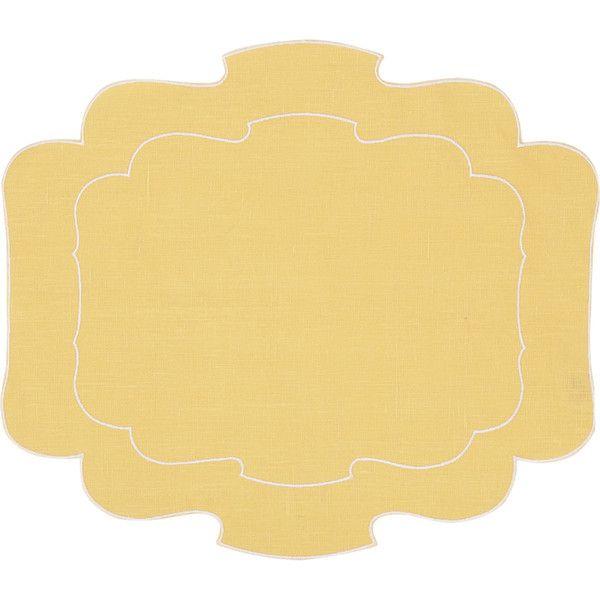 La Gallina Matta Parentesi Placemat Yellow Placemats Placemats Linen Placemats