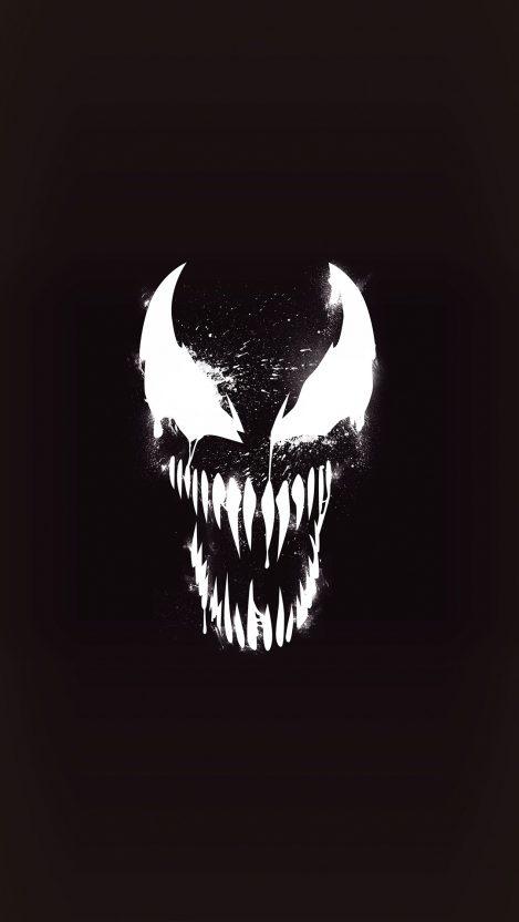Venom Dark Minimal iPhone Wallpaper Marvel wallpaper