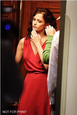 red wrap dress | Eva green, Mode