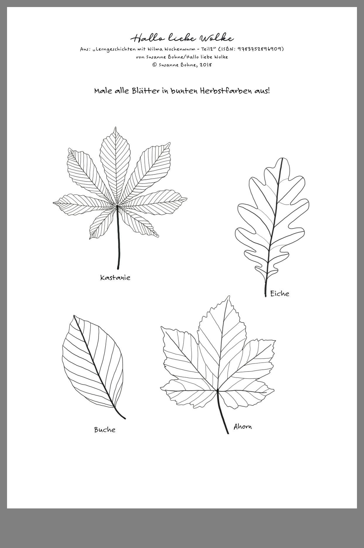Pin Von Anna Auf Wtg Malvorlagen Herbst Herbst Im Kindergarten Blatt Vorlage