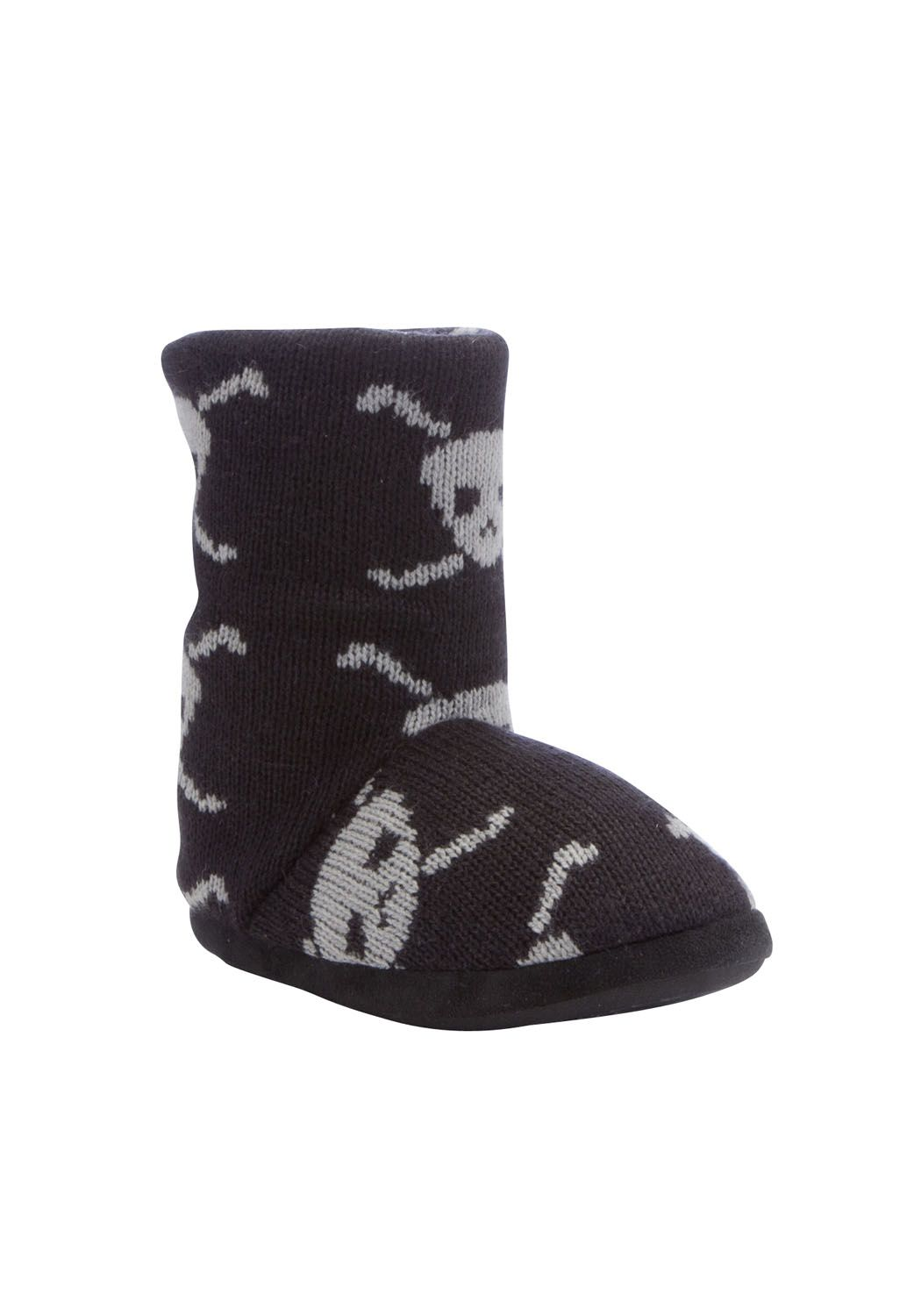pirate slipper boots clothing at tesco f fleece lined. Black Bedroom Furniture Sets. Home Design Ideas