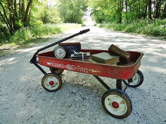 Red Wagon Full Size Child S Metal