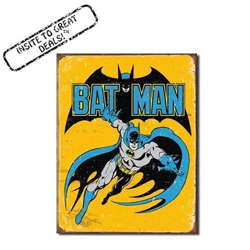 Retro Batman Nostalgic Funny Vintage Tin Sign Metal Wall Décor ...