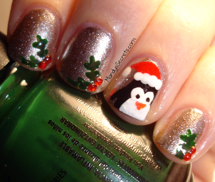 Mandyssecrets nail art santa penguin holly christmas nails mandyssecrets nail art santa penguin holly christmas nails prinsesfo Gallery