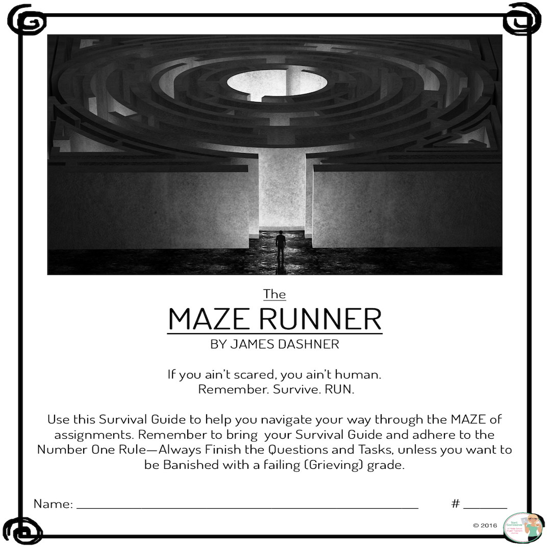 """The Maze Runner by James Dashner This is an in-depth novel study on the  """"The Maze Runner,"""" by James Dashner. Over 75 pages cover everything you  need to ..."""