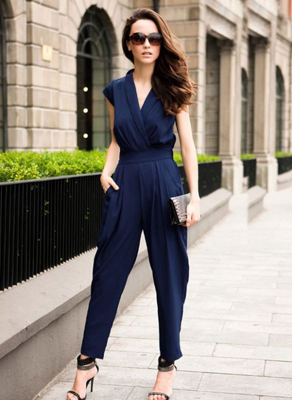 1000  images about F. Jumpsuit on Pinterest | Rompers, Navy blue ...