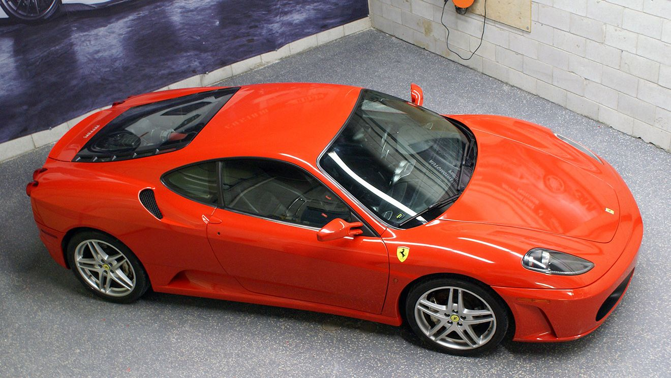 Ferrari F430 Gloss Hot Rod Red Ferrari f430, Car wrap