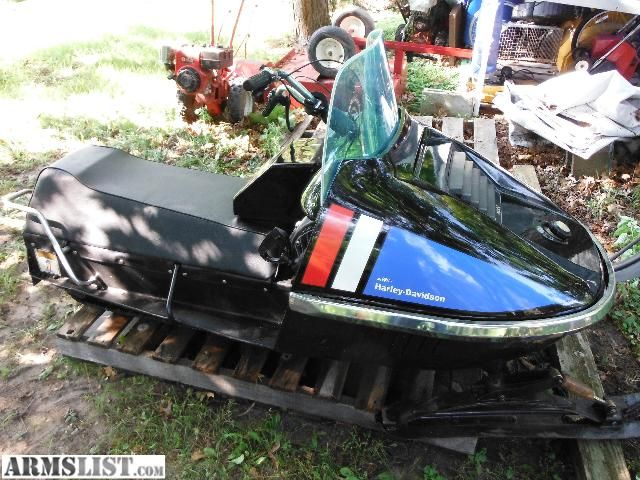 for sale: harley davidson snowmobile 440 1973   vintage