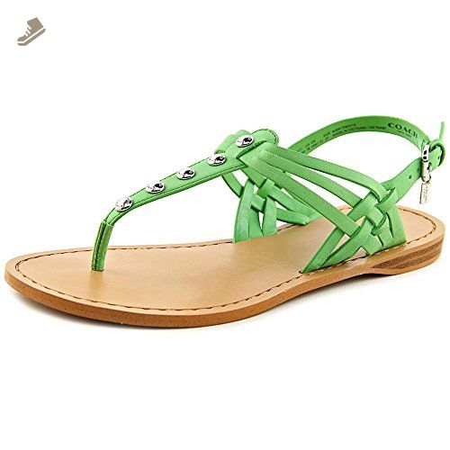 Womens Sandals COACH Caleigh Pistachio Soft Vegan Leather