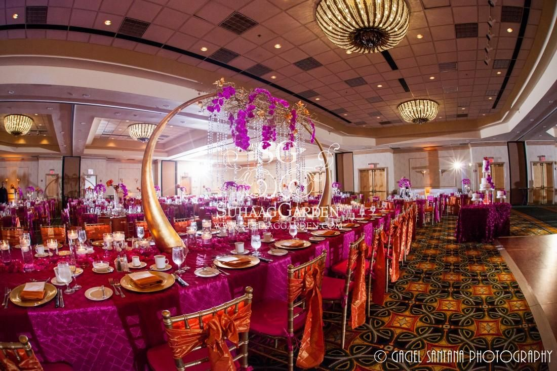 Suhaag garden indian wedding decorators florida wedding suhaag garden indian wedding decorators florida wedding decorators reception stage fuchsia junglespirit Images