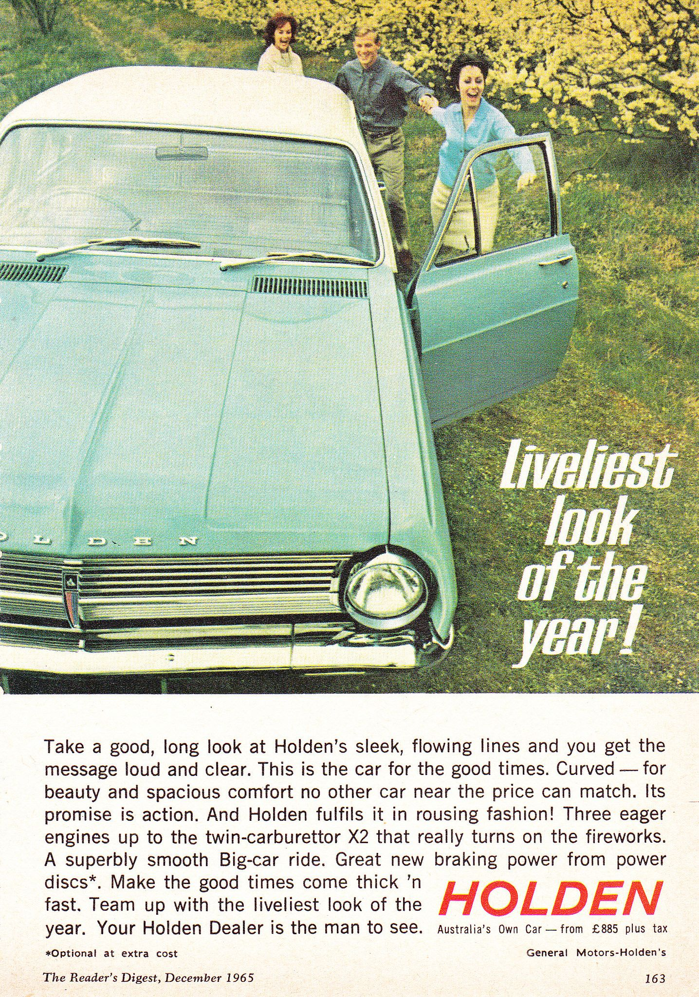 1965 Hd Holden Special Sedan Liveliest Look Aussie Original Magazine