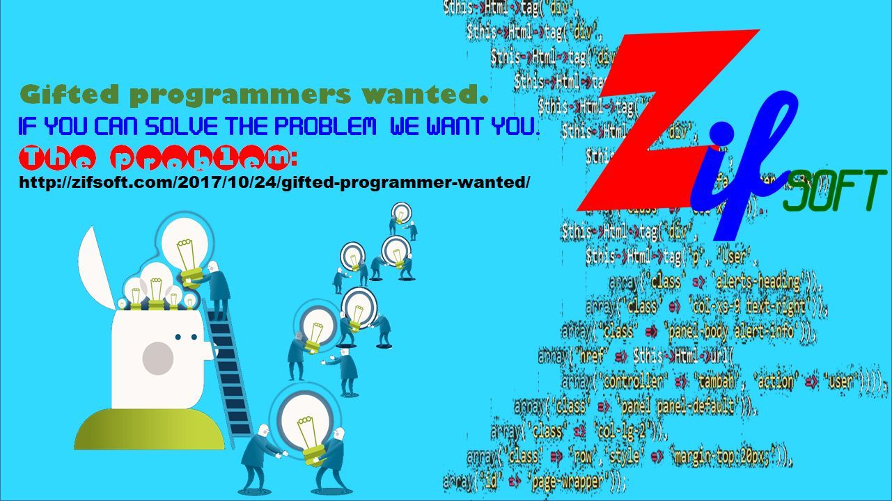 Gifted programmers wanted. Solve this problem and we'll