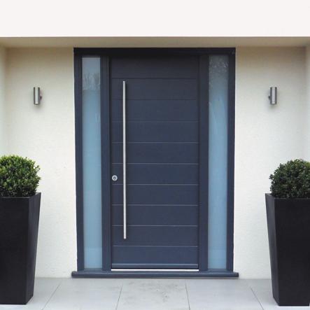 External Door Aluminium Side Window Grey Google Search Modern Exterior Doors Contemporary Front Doors Exterior Front Doors