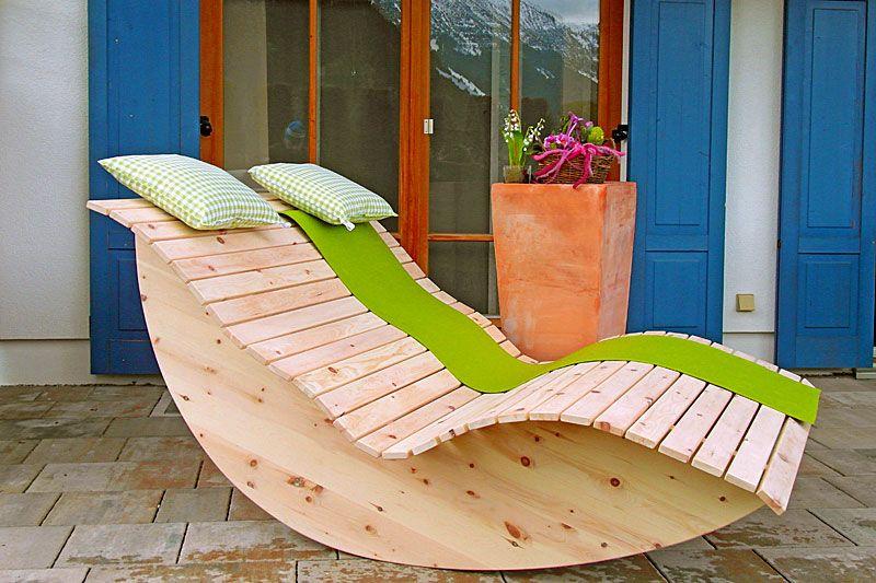 Schaukelliege wohnzimmer ~ Relaxliege schaukelliege holzliege gartenmöbel entspannung