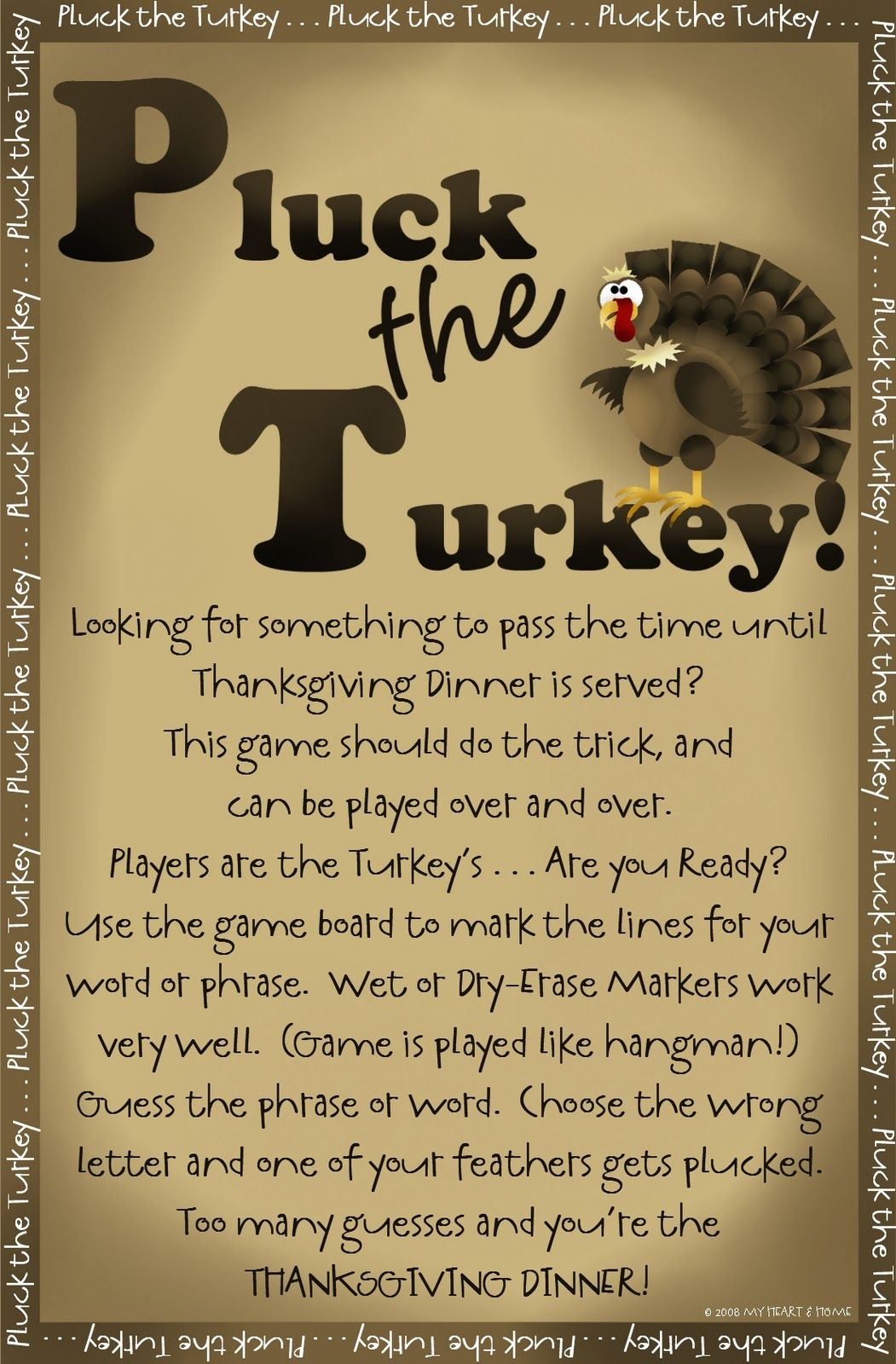 Blog Filled With Games And Crafts For Thanksgiving Printables