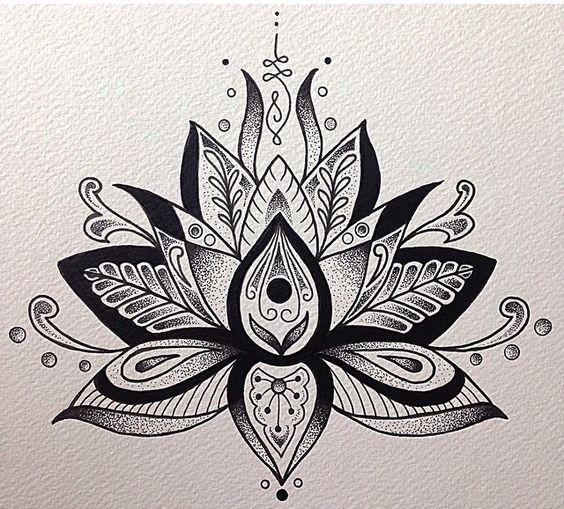 Unalome And Lotus Flower More Motivation Flor De Loto Loto