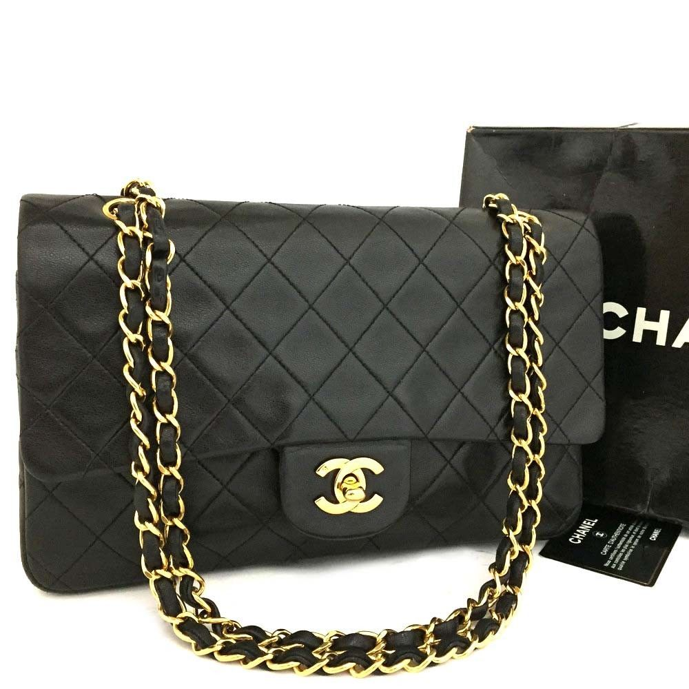 Chanel Double Flap 25 Quilted Cc Logo Lambskin W Chain Shoulder Bag Black R643 Fashion Clothing Shoes Accessories Womensbagshandbags Ebay Link