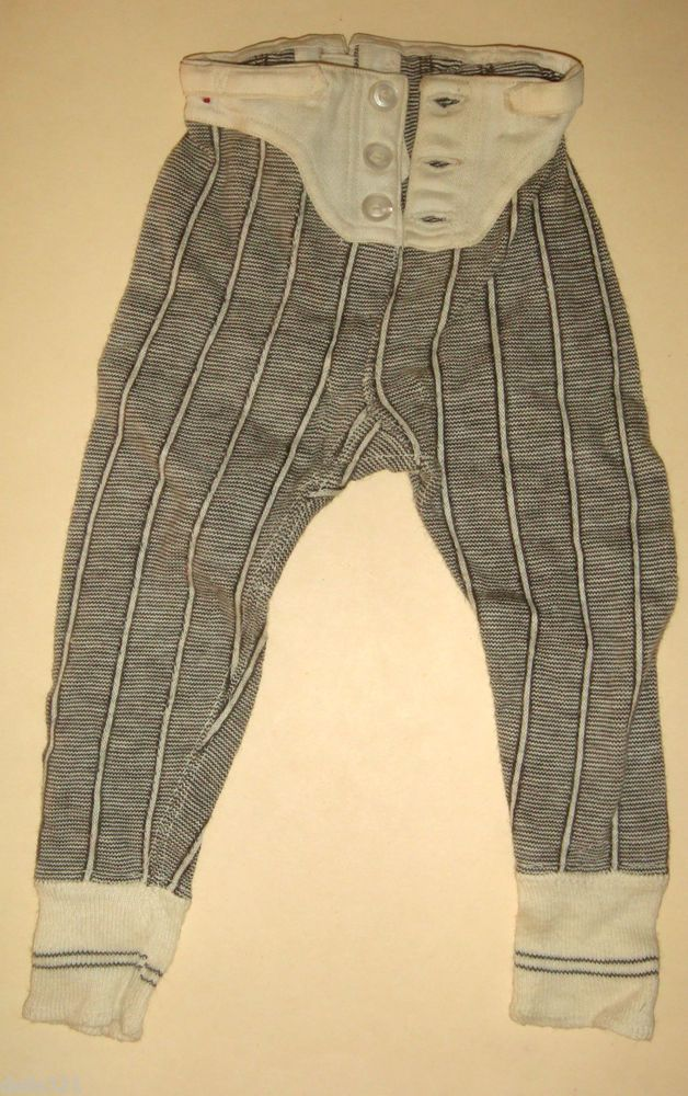 Antique 1900 Mens Salesman Sample LONG UNDERWEAR PANTS display doll size, neat!